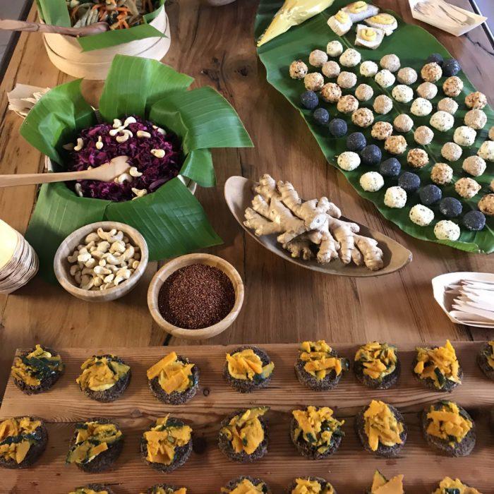 Buffet vegan Profumeria Urbani-mygreenfood