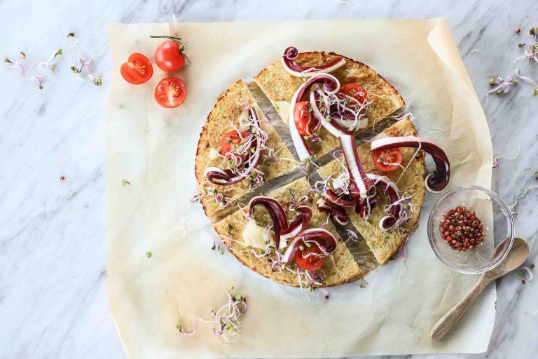 pizza di cavolfiore gluten-free