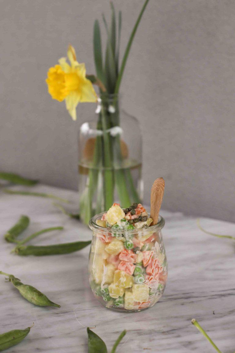 insalata russa vegan alla curcuma