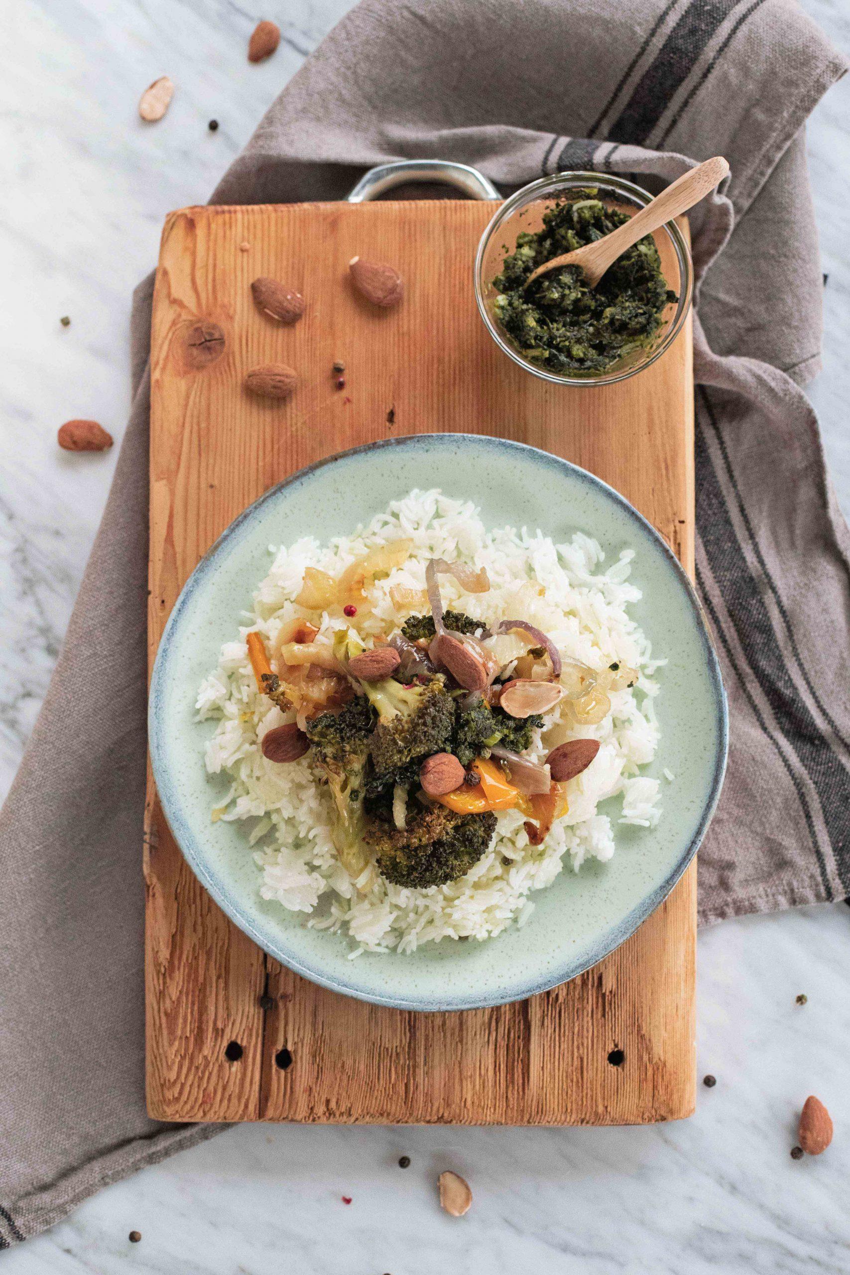 riso con pesto di cavolo1